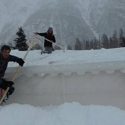 Enormes chutes de neige