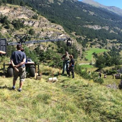 Tournage à Val Cenis