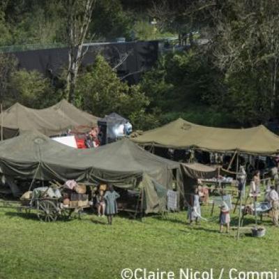 Le camp des réfugiés