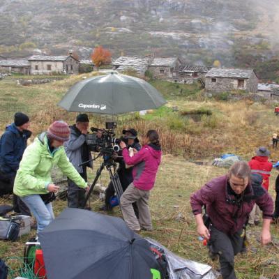 Le tournage au dessus de l'Ecot