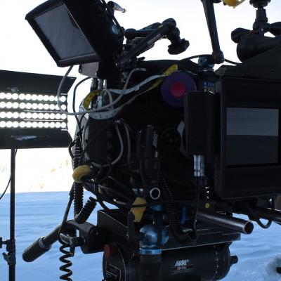 Projecteur 4LIGHT, tournage à Chamonix