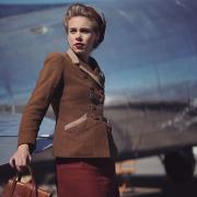 Margot Lourdet (actrice) en tournage à l'aéroport de Dole Tavaux