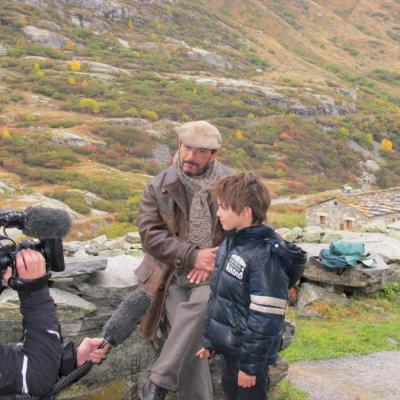 Mehdi et Félix en tournage à l'Ecot