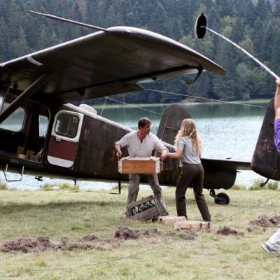 Un avion Broussard convoyé au lac Genin