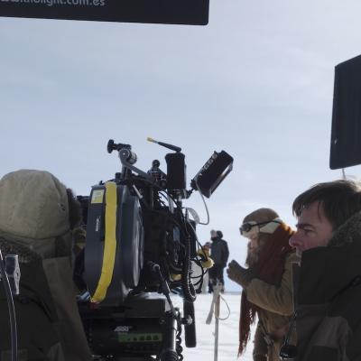 Sur le tournage à Chamonix