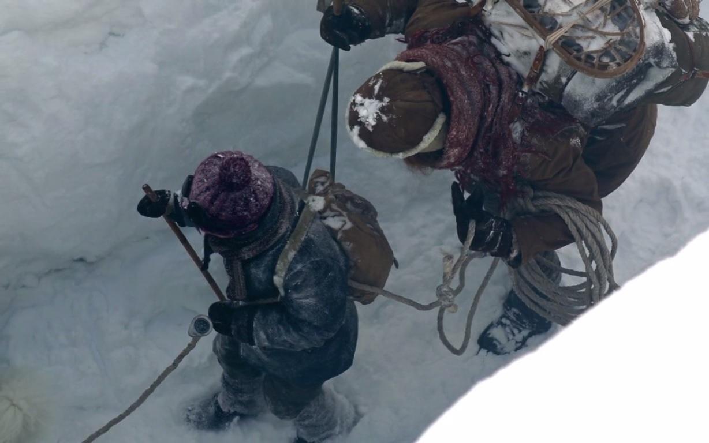 Au matin, la traversée du glacier peut commencer