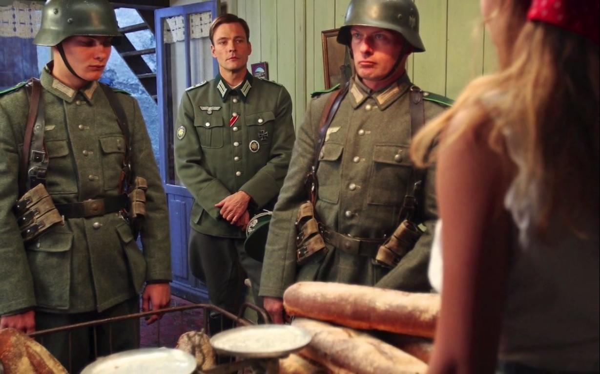Les soldats Allemands et leur chef