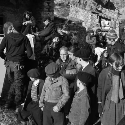 Jeunes figurants en tournage à l'Ecot