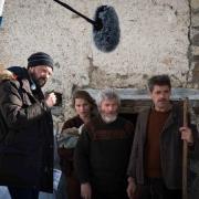 Margaux Chatelier, Tcheky Karyo et Thierry Neuvic sur le tournage