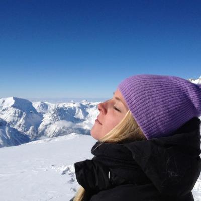 Tournage sur les hauteurs de Chamonix