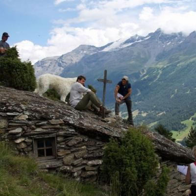 Tournage à la cabane sous la roche