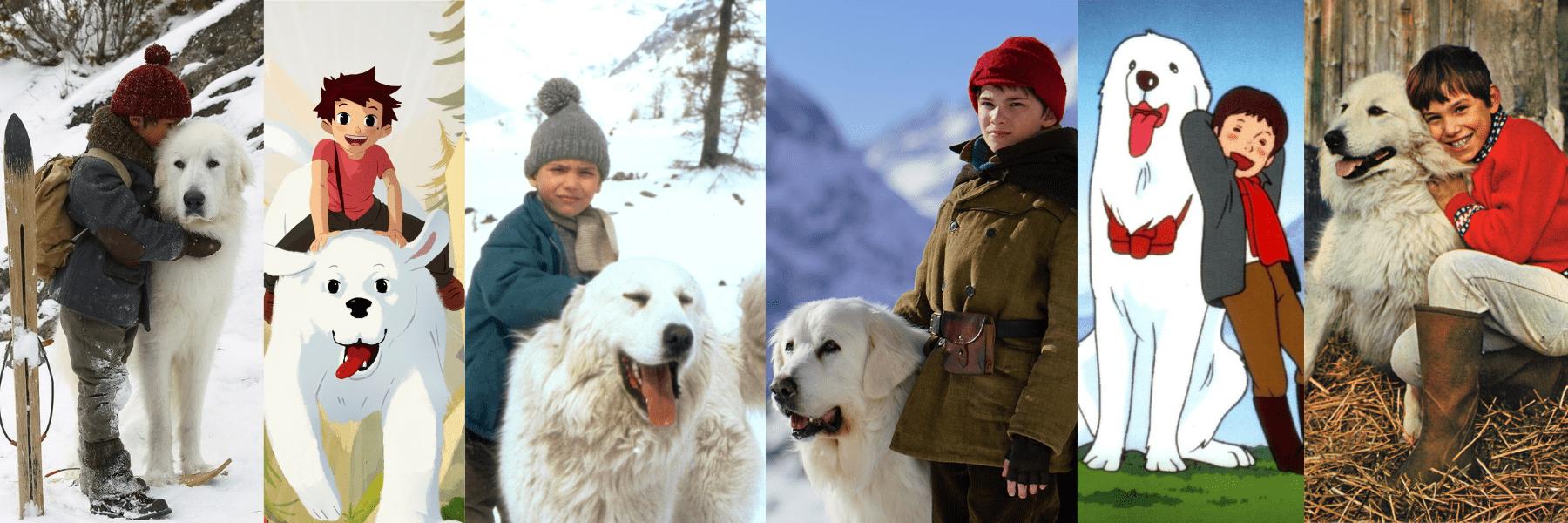 """""""L'histoire d'amitié entre un petit garçon et une grande chienne des Pyrénées"""""""