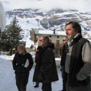 Nicolas Vanier en repérage à Bessans - Hiver 2012