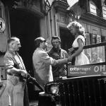 Cécile Aubry avec H-G Clouzot et Michel Auclair sur le tournage de Manon © GettyImages