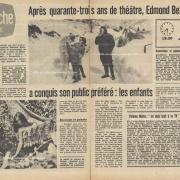 Après 43 ans de théâtre, Edmond Beauchamp a conquis son public préféré : les enfants - Page 1